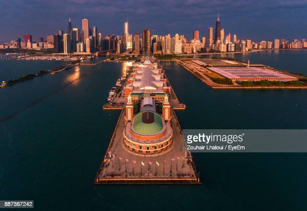 view of cityscape against sky - cook county illinois stock photos and pictures