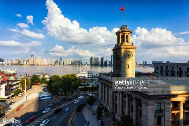 view of cityscape against sky - wuhan stock photos and pictures