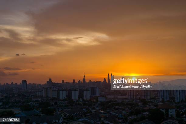 View Of Cityscape During Sunset