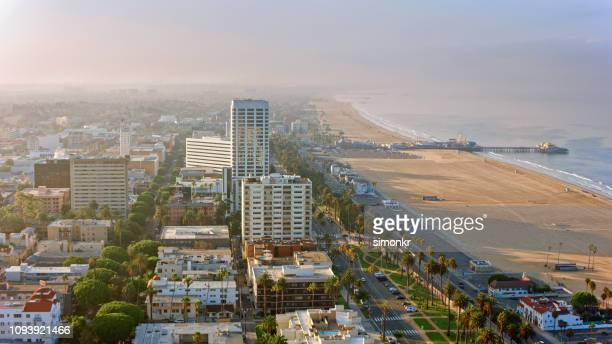 view of cityscape - santa monica stock pictures, royalty-free photos & images
