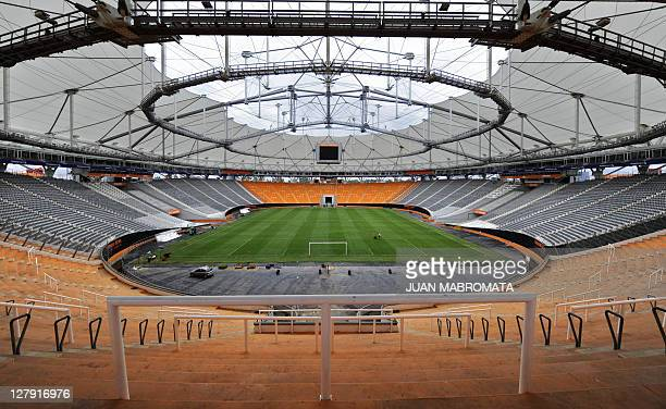 View of Ciudad de La Plata stadium in La Plata some 62 Km south of Buenos Aires on April 20, 2011 which will host the opening football match of the...