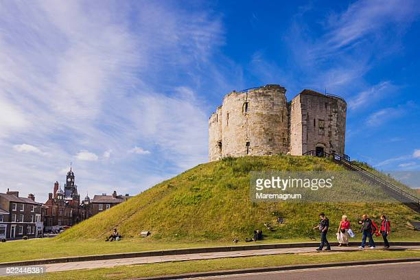 view of clifford's tower - tower stock pictures, royalty-free photos & images