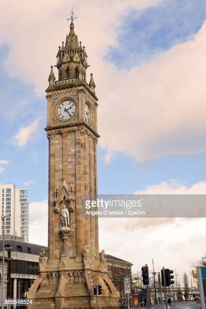 View Of Clock Tower Against Cloudy Sky