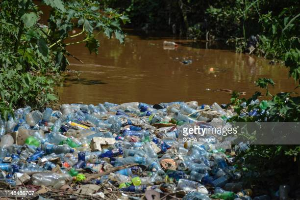 A view of clogged plastic bottles at Njoro River in Nakuru The River that empties its contents into Lake Nakuru a UNESCO world heritage site carries...