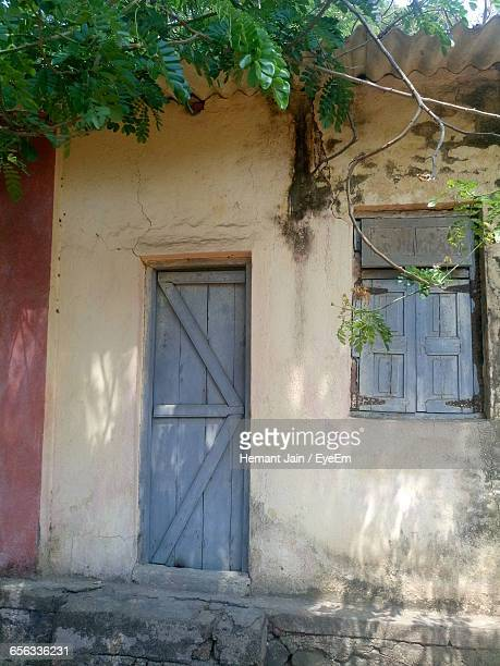 View Of Closed Door Of House