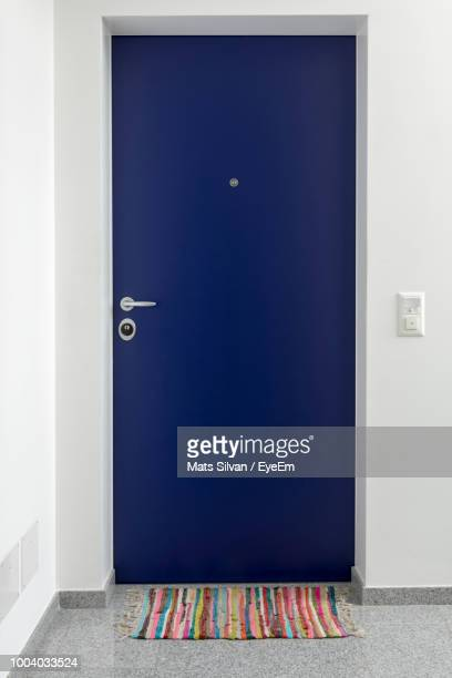 View Of Closed Door On Wall