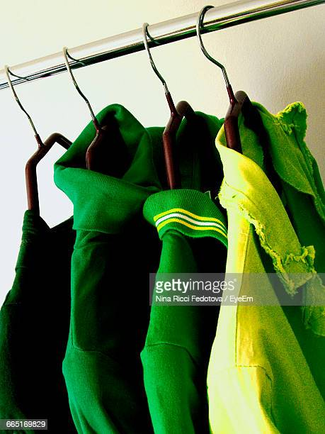 View Of Clothes Hanging On Rack