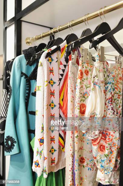 A view of clothing display during Vintage For The Future A Norma Kamali Retrospective by What Goes Around Comes Around on February 13 2018 in New...