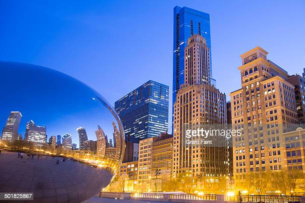 View of Cloud Gate plaza with the Bean