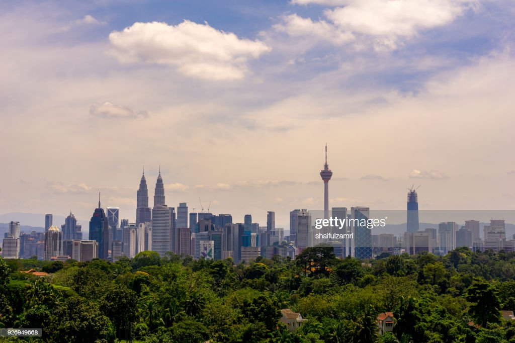 View of cloudy day at downtown Kuala Lumpur, Malaysia : Stock Photo