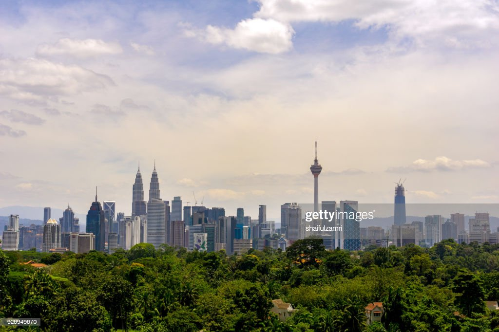 View of cloudy day at downtown Kuala Lumpur, Malaysia : Stock Photo