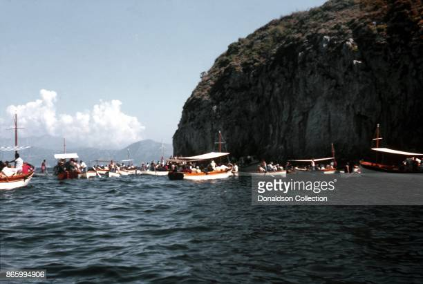 A view of coast on September 22 1963 in Capri Italy