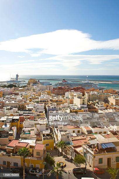 View of coastal city Almeria, Andalusia, Spain