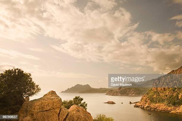 View of coastline at Porto, Corsica.