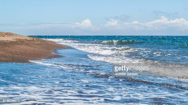 view of coastline, dauin, negros oriental, philippines - negros oriental stock pictures, royalty-free photos & images