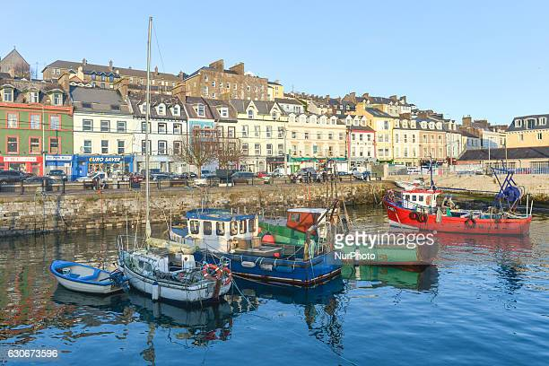 A view of Cobh waterfront with fishing boats On Thursday 29 December 2016 in Cobh Cork Ireland