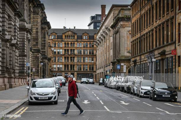 A view of Cochrane Street one of Glasgow streets linked to slave owners on June 9 2020 in Glasgow Scotland Glasgow and its historic ties with the...
