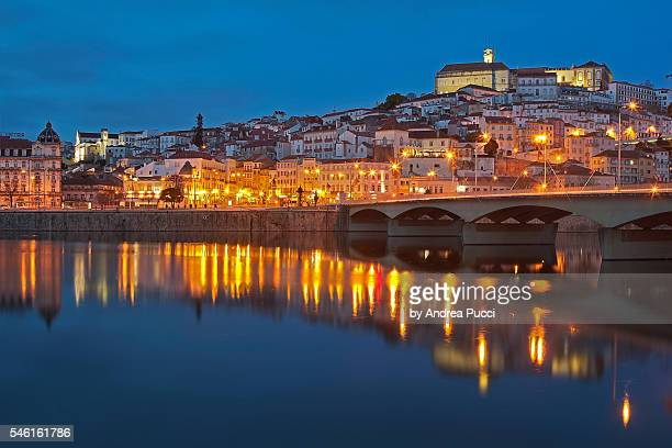 A view of Coimbra's University Hill as seen from the Mondego River, Coimbra, Portugal