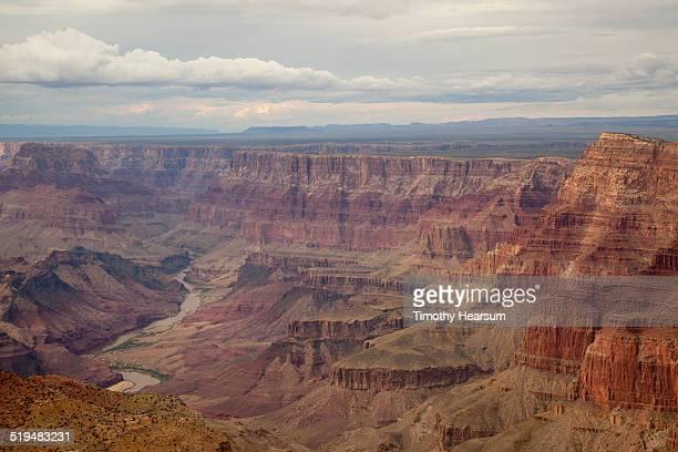 view of colorado river and grand canyon, south rim - timothy hearsum fotografías e imágenes de stock