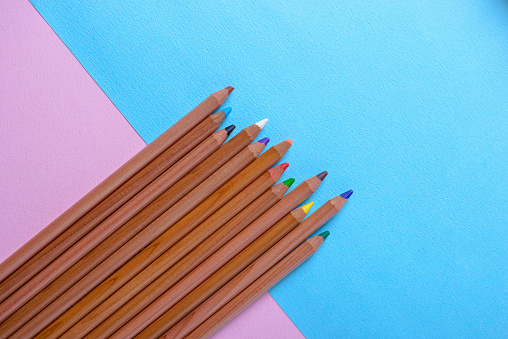 View of colored pencils - gettyimageskorea
