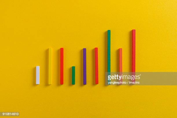 View of colorful bar graph
