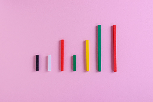 View of colorful bar graph - gettyimageskorea