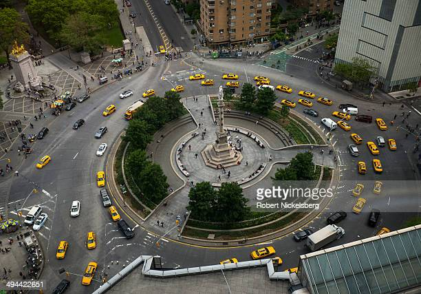 A view of Columbus Circle is seen May 19 2014 from the Mandarin Hotel's 35th floor in New York City