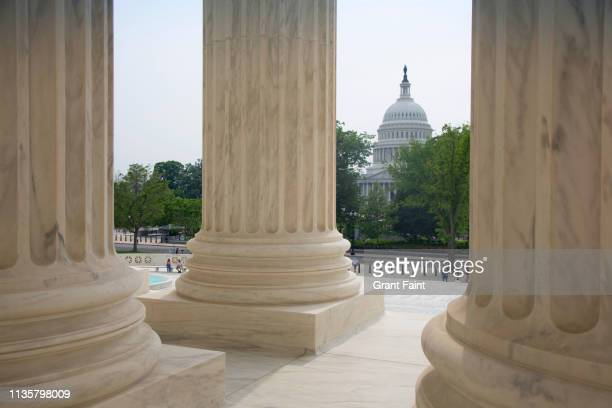 view of columns. - washington dc stock pictures, royalty-free photos & images