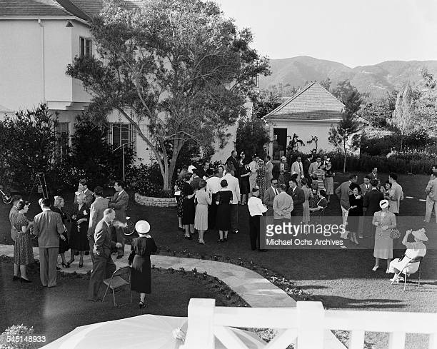 A view of comedian Fanny Brice birthday party in Los Angeles California
