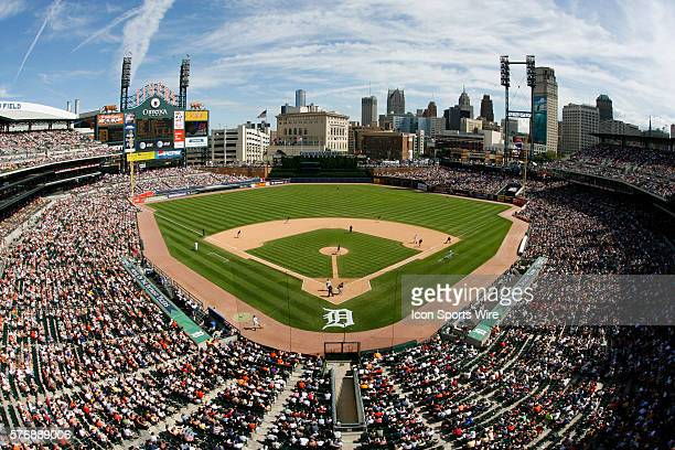 A view of Comerica Park from the upper deck during the Oakland A's 95 victory over the Detroit Tigers at Comerica Park in Detroit Michigan