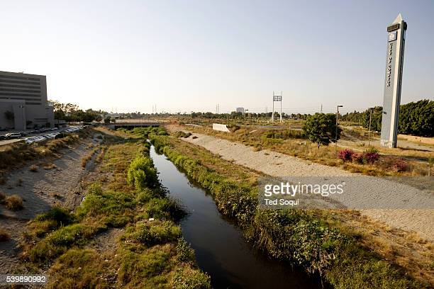 View of Compton Creek from a freeway overpass In the middle of the city of Compton known for it's rap music and gang murders which are at it's...
