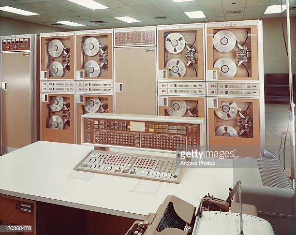 View of computer mainframe room