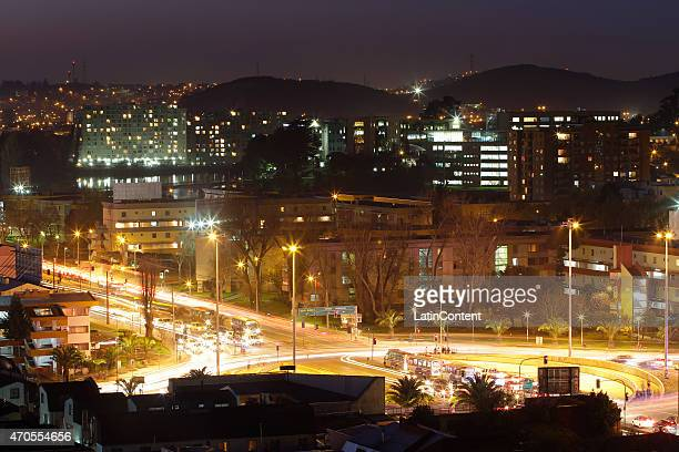 View of Concepcion city on August 25th 2014 in Concepcion Chile Concepcion is one of the eight host cities of the next Copa America Chile 2015 which...
