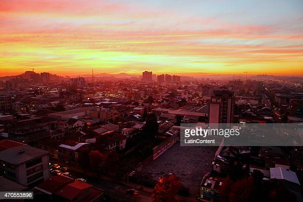 View of Concepcion on May 27th 2014 in Concepcion Chile Concepcion is one of the eight host cities of the next Copa America Chile 2015 which will be...