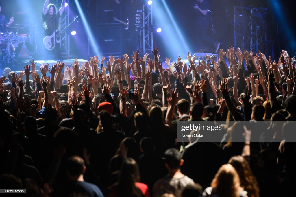 A view of concert goers at PlayStation Theater on March 10