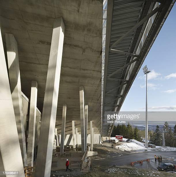 View of concrete supports Holmenkollen Ski Jump Ski Jump Europe Norway JDS Architects