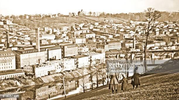 View of Conshohocken Pennsylvania c 1900 Vintage Photograph