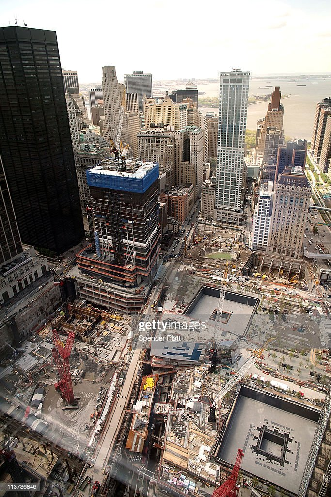 A view of construction at the World Trade Center site on May 5, 2011 in New York City. President Barack Obama is visiting Ground Zero today to participate in a wreath laying ceremony and to mark the death of Osama bin Laden.