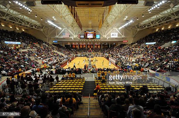 A view of Conte Forum at Boston College during the Georgia Tech Yellow Jackets 8678 win over the Boston College Eagles in Boston MA