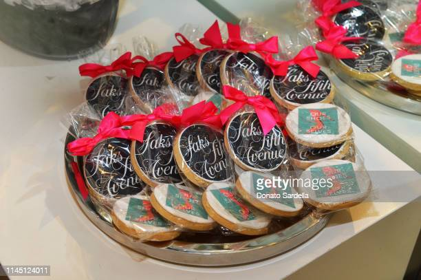View of cookies at Saks Beverly Hills Celebrates Our Shoes Our Selves Book Launch with Bridget Moynahan and Amanda Benchley on April 25 2019 in...