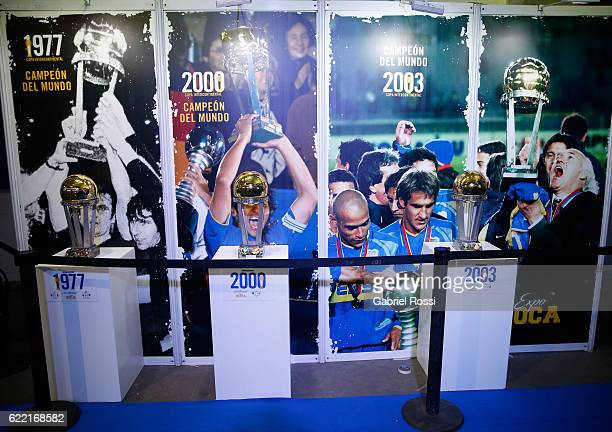 A view of Copa Libertadores trophys during Expo Boca Exhibiton at Alberto J Armando Stadium on November 10 2016 in Buenos Aires Argentina