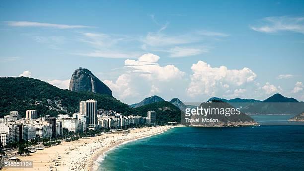 Vista de Copacabana praia, Rio de Janeiro, Brasil