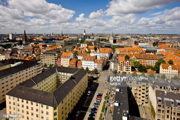View of Copenhagen from the top of Our Saviours Church, Copenhagen, Denmark