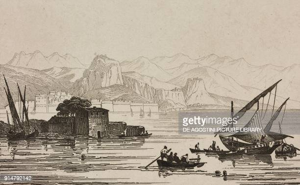 View of Corfu Greece engraving from Grece by Francois Pouqueville L'Univers pittoresque Europe published by Firmin Didot Freres Paris 1835