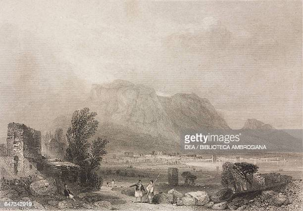 View of Corinth, engraving from Greece, Pictorial, Descriptive, and Historical by Christopher Wordsworth .