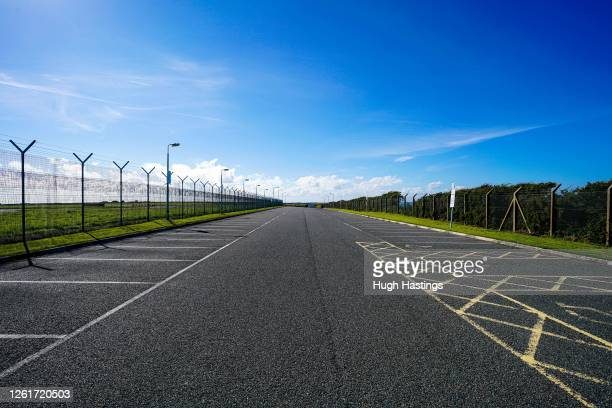 A view of Cornwall Airport Newquay where Virgin Orbit is seeking to provide launches from a Spaceport using a modified Boeing 747400 aircraft called...