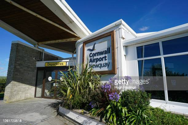 View of Cornwall Airport Newquay, where Virgin Orbit is seeking to provide launches from a Spaceport using a modified Boeing 747-400 aircraft called...