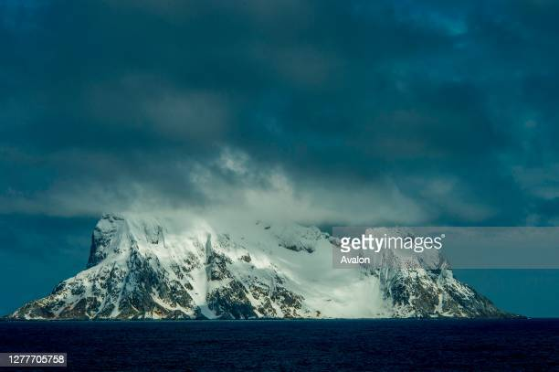 View of Cornwallis Island from the Prince Charles Passage in the Southern Ocean, Antarctica.