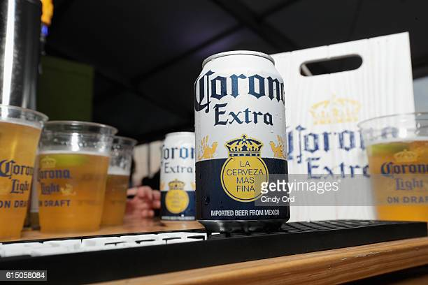 View of Corona beers at the CocaCola Backyard BBQ hosted by Bobby Flay and Michael Symon presented by Thrillist sponsored by National Beef Pat...