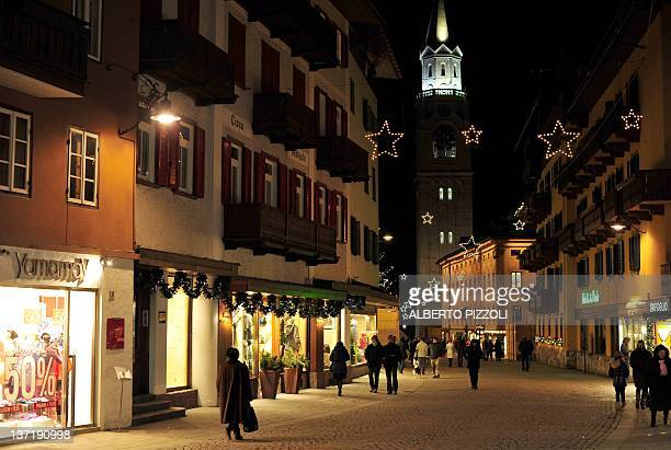 A view of Corso Italia street in Cortina d'Ampezzo on January 15 2012Italian Tax authorities have launched a highprofile raid on December 30 2011 on...